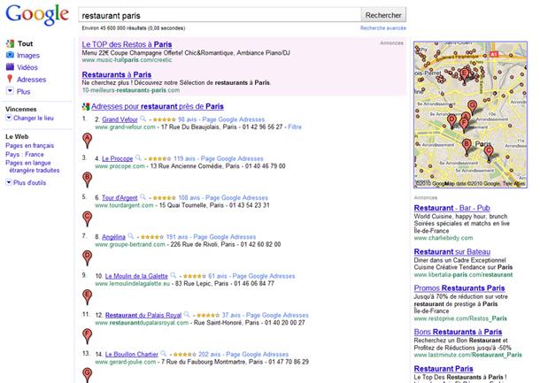 Stratégie en référencement local avec Google Adresses