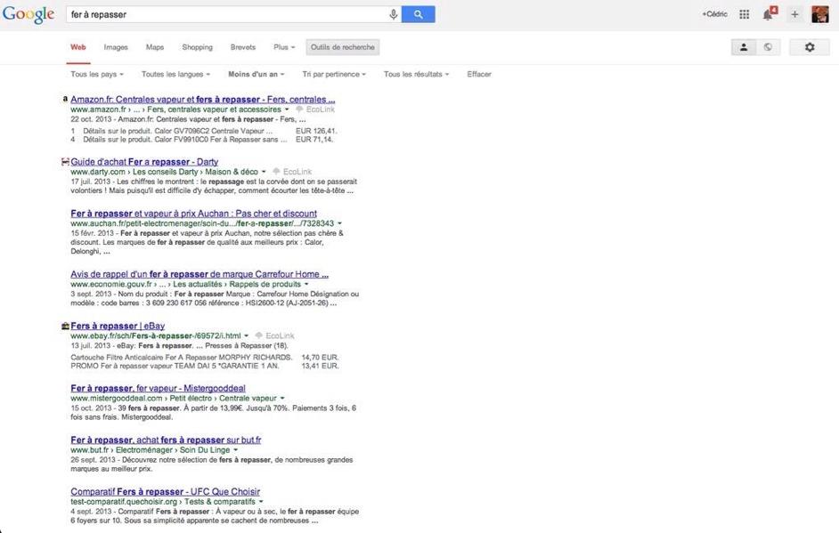 Google teste les favicons sur son moteur de recherche