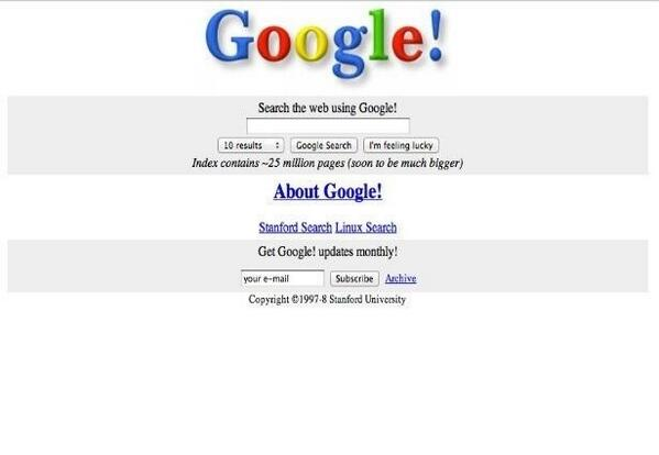 Google a 15 ans… en image!