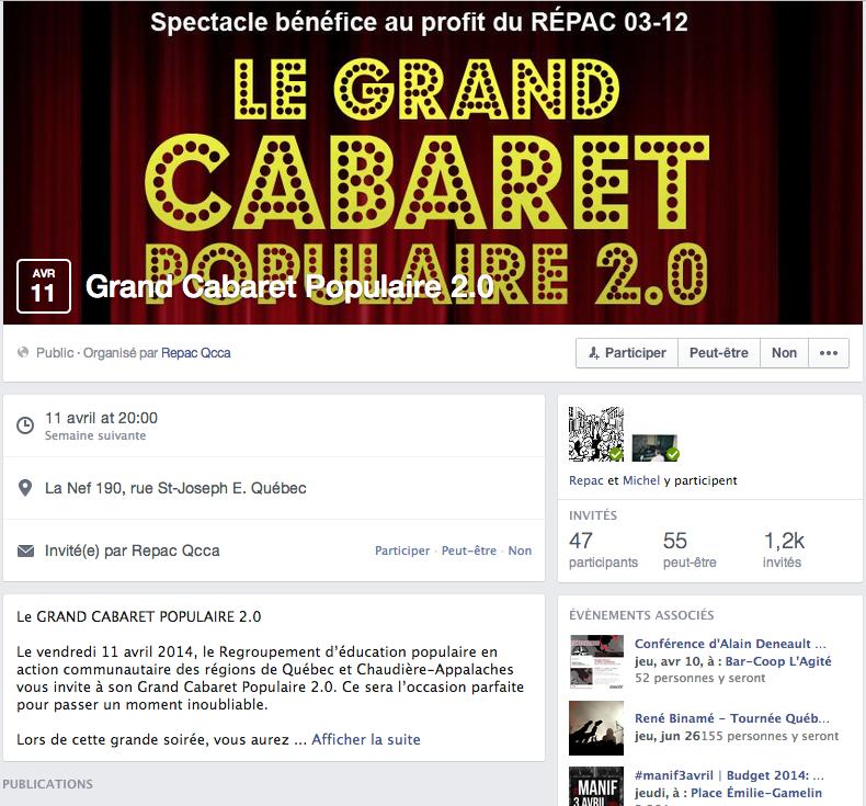 Nouveau design pour les pages Évènements sur Facebook