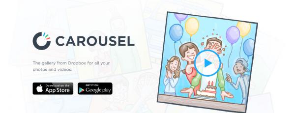 Carousel par Dropbox: partager vos images dans le cloud