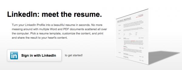 Créer votre CV professionnel à partir de LinkedIn Resume