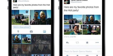 Nouveautés sur Twitter: identifier les gens sur les photos et jusqu'à 4 photos par tweet