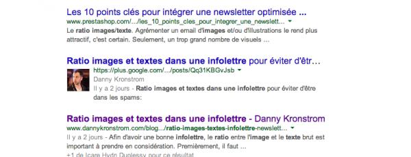 Google+ et le positionnement web: pas toujours logique
