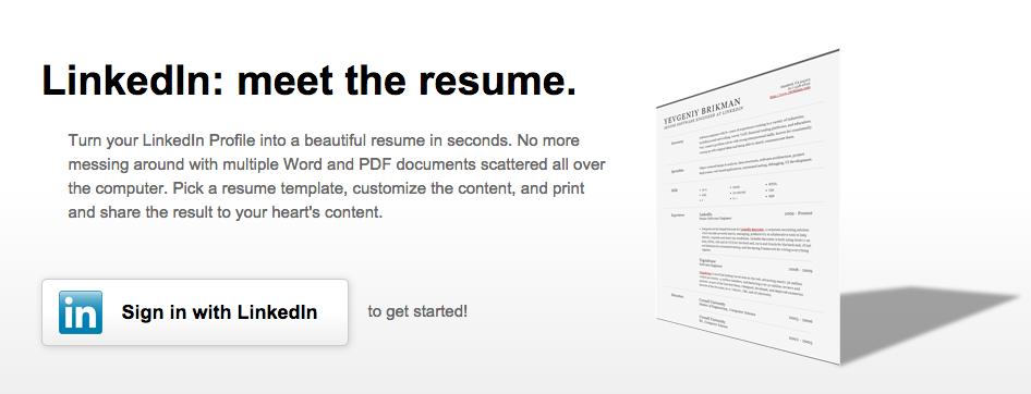 cr u00e9er votre cv professionnel  u00e0 partir de linkedin resume