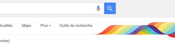 Google aux couleurs de l'arc-en-ciel